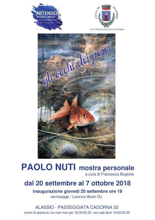Gli occhi dei pesci mostra pittore Paolo Nuti