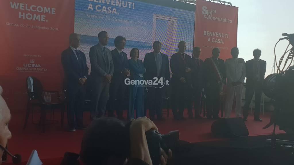 Inaugurazione Nautico con Toninelli