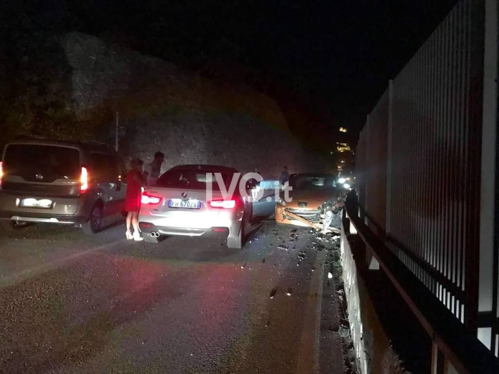 incidente  sulla strada provinciale