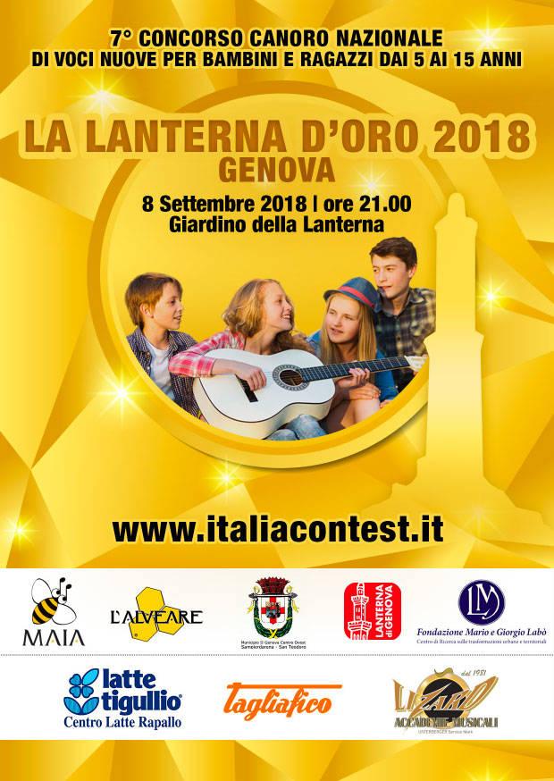 La Lanterna d'Oro concorso canoro bambini e ragazzi Genova 2018