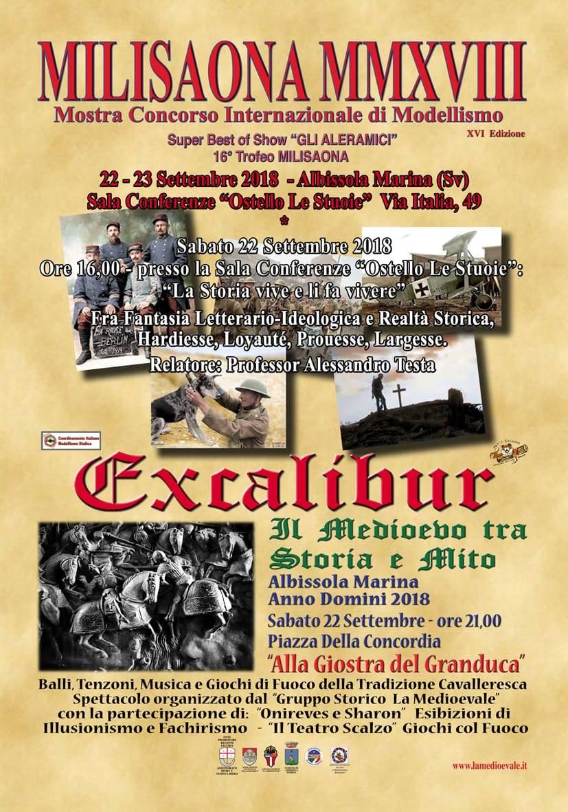 "Mostra Modellisimo MILISAONA & Torneo ""Excalibur"" 2018"