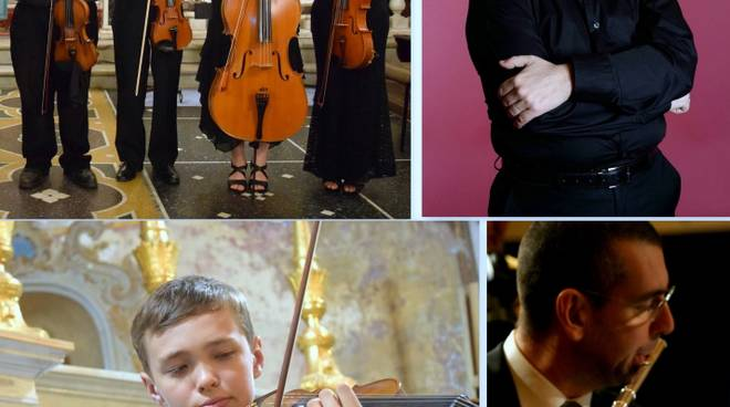 Musicisti concerto Bach Varazze