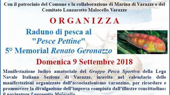 Raduno Pesca pesce pettine Memorial Renato Geronazzo 2018