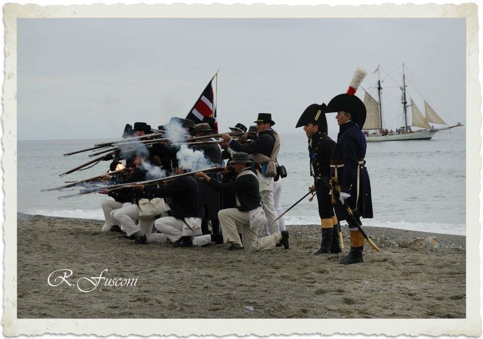 Rievocazione storica battaglie navali napoleoniche 1812 Loano