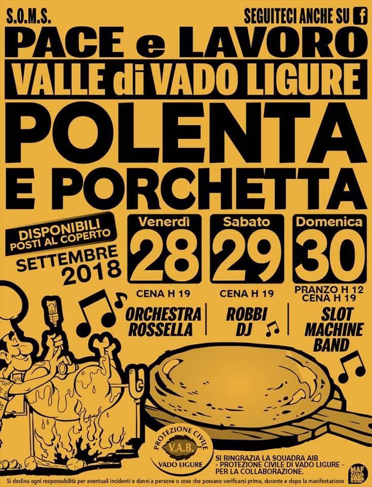 "Sagra Polenta e Porchetta SOMS ""Pace e Lavoro"" 2018"