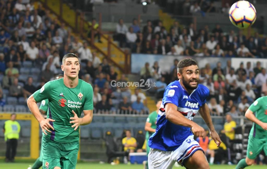 Sampdoria vs Fiorentina recupero 1° Giornata Serie A