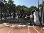 Sat Albenga pulizia piazza del Popolo