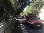 viale Villa Gavotti, muro pericolante