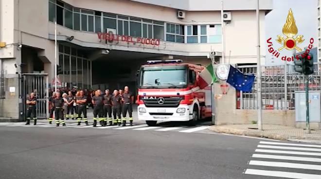vigili del fuoco commemorazione ponte morandi