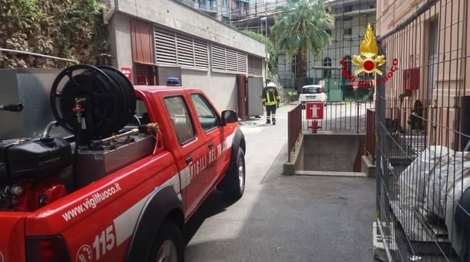 vigili del fuoco, fuga di gas al San Martino