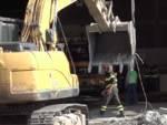 Vigili del fuoco lavori tecnici ponte morandi