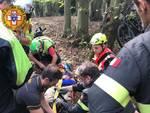 Biker ferito a Calice Ligure