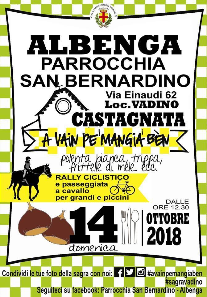 Castagnata Vadino Albenga 2018