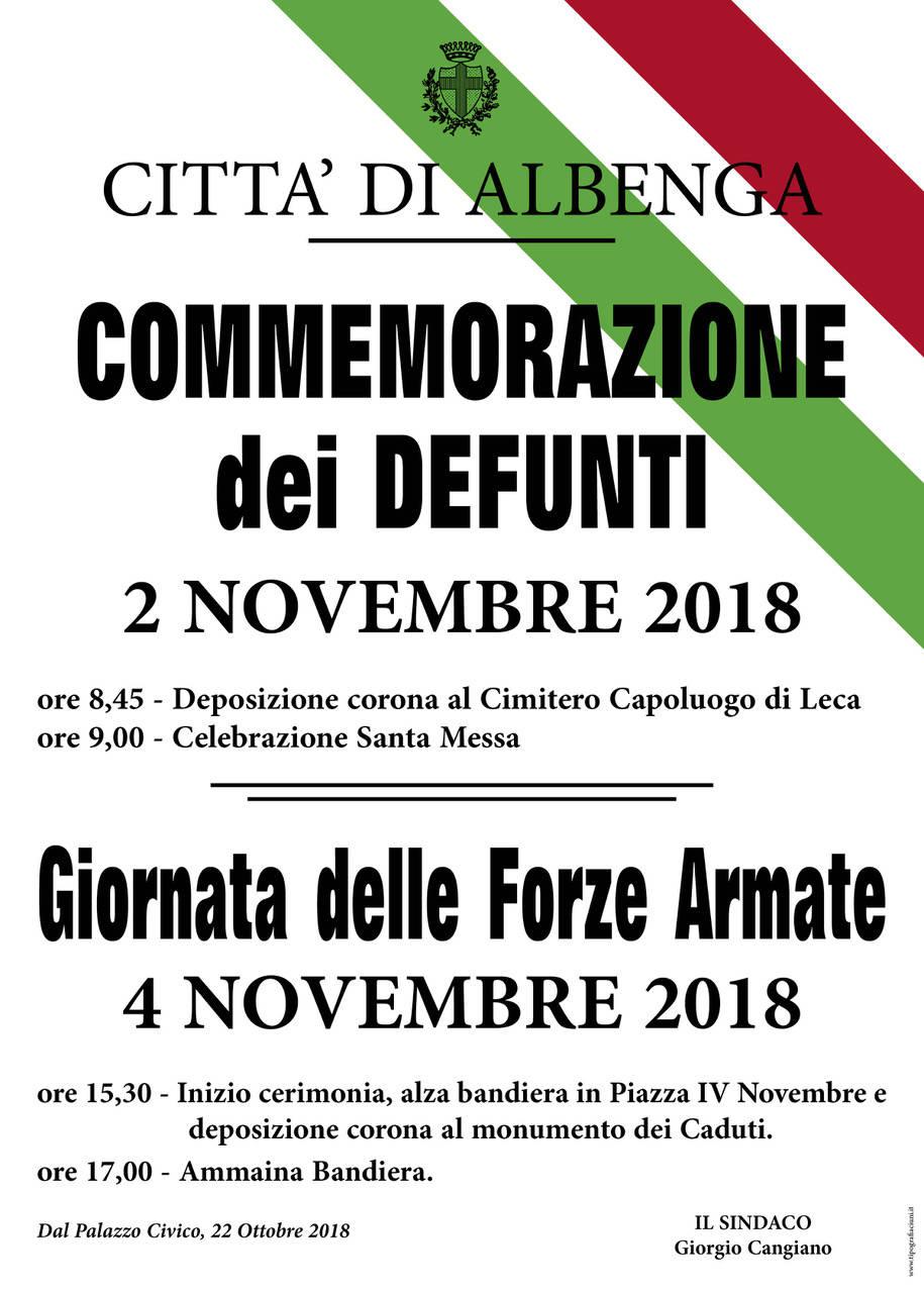 Celebrazioni Giornata Forze Armate Albenga 2018