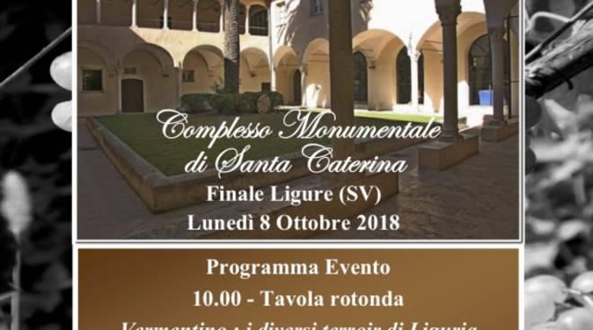 """Conferenza e Degustazione """"Il Vermentino e i diversi terroir di Liguria"""""""
