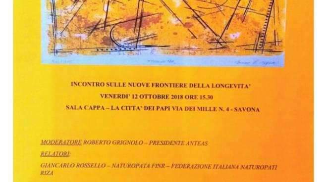 """Convegno """"Le nuove frontiere della longevità"""" Savona"""
