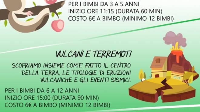 """""""Dodò e le 4 stagioni"""" e """"Vulcani e Terremoti"""" Museo Doria"""