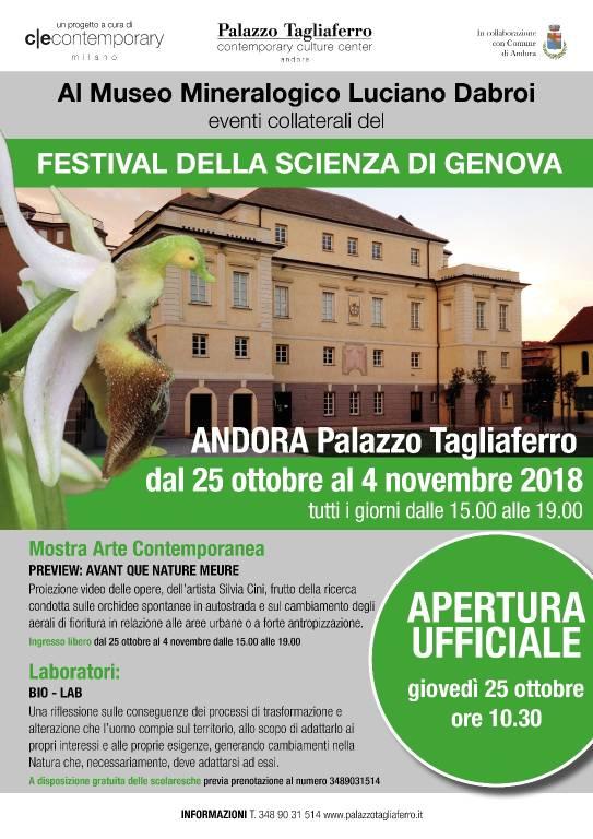 Festival della Scienza Palazzo Tagliaferro Andora