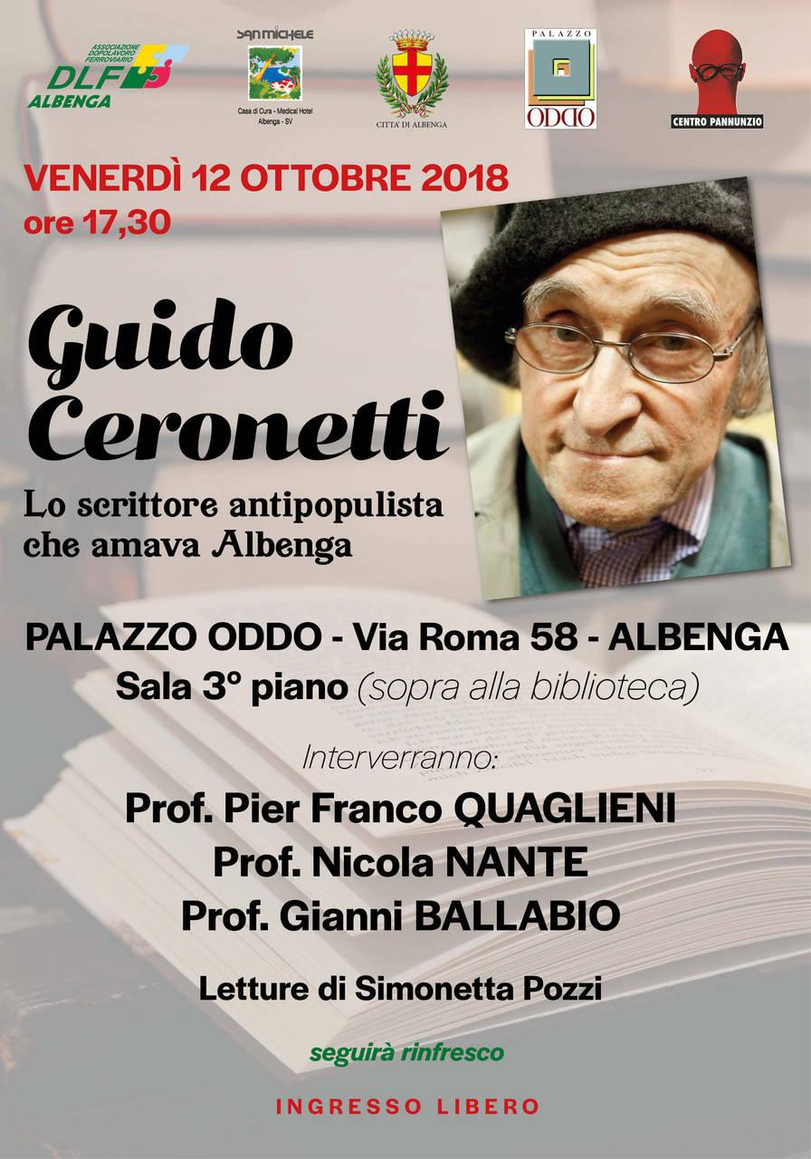 """""""Guido Ceronetti: lo scrittore antipopulista che amava Albenga"""""""
