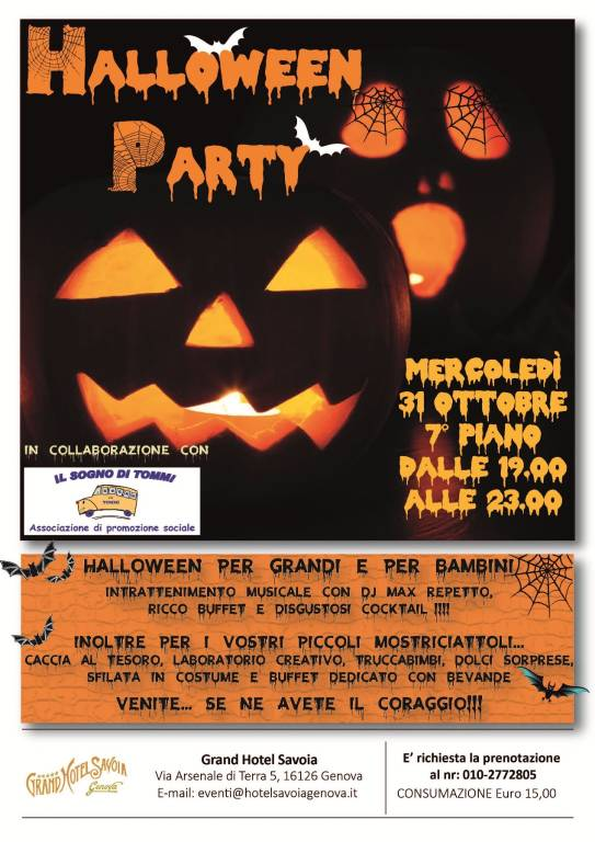 Halloween Party Grand Hotel Savoia Genova