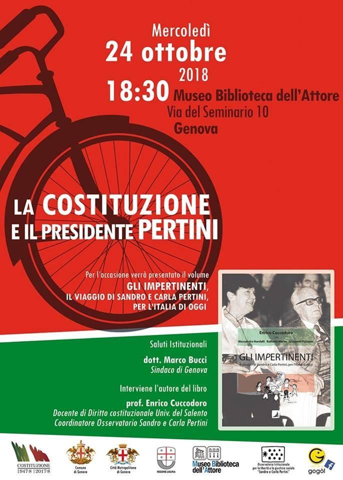 """Incontro """"La Costituzione e il presidente Pertini"""""""
