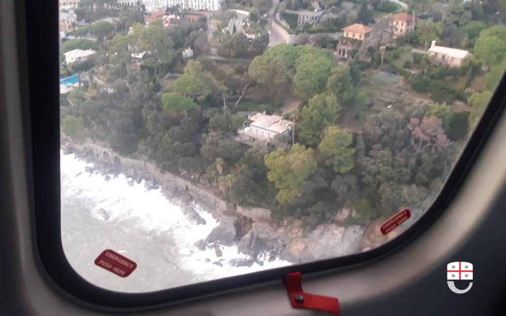La devastazione del Tigullio dall'alto