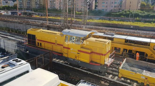 lavori ferrovia ponte morandi