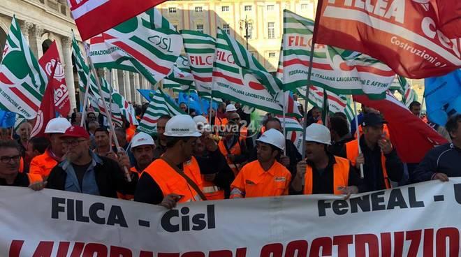 Manifestazione edili terzo valico