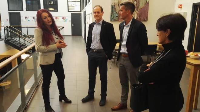 Mauro Demichelis visita Larvik Norvegia