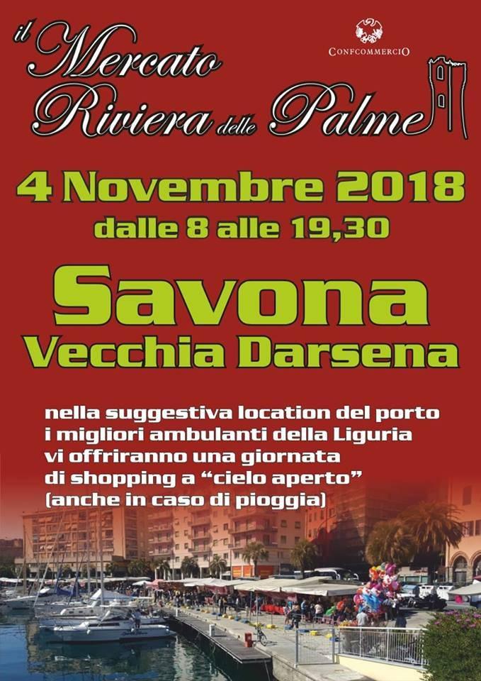 Mercato Riviera delle Palme Savona novembre 2018