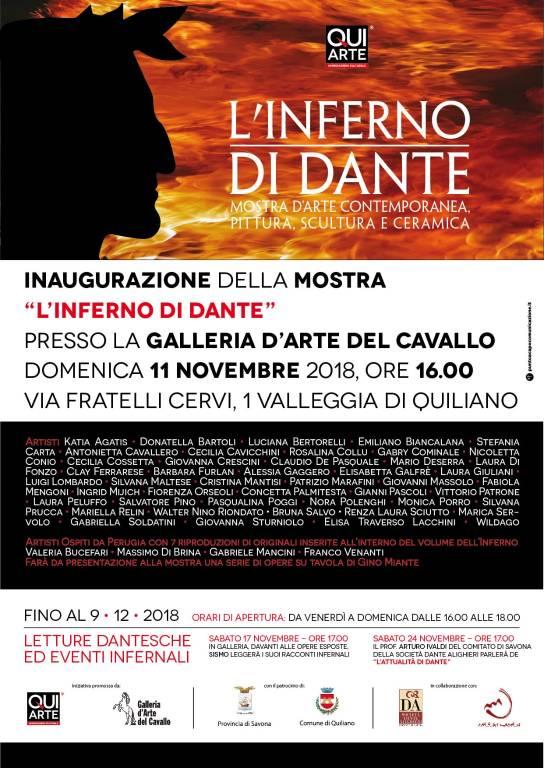 """Mostra d'arte contemporanea """"L'Inferno di Dante"""" Quiliano"""
