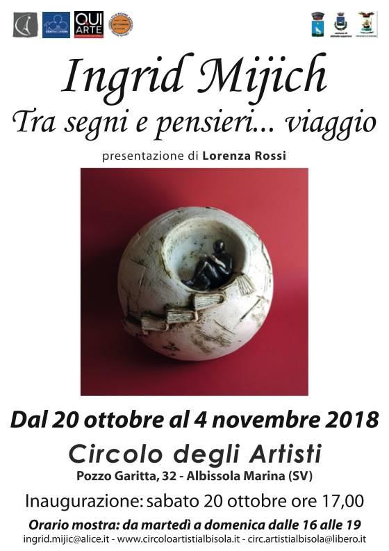 Mostra Ingrid Mijich Circolo degli Artisti Albissola Marina
