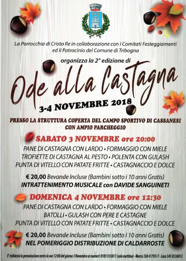 Ode alla Castagna 2018 Cassanesi Tribogna