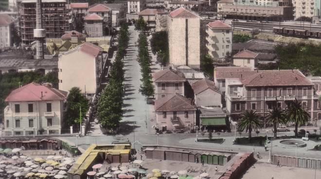 panorama albenga del 1958