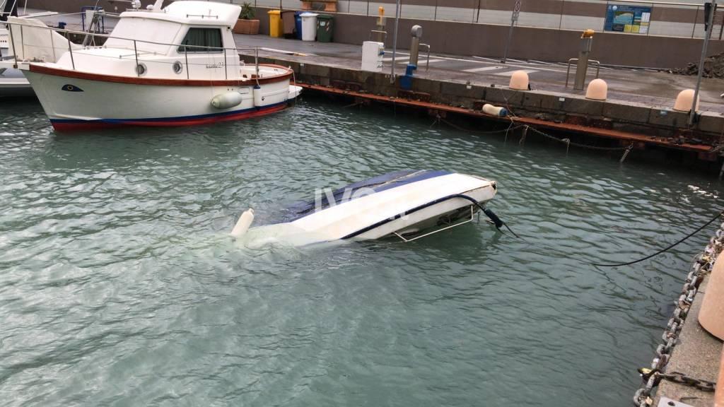 porto Alassio mareggiata
