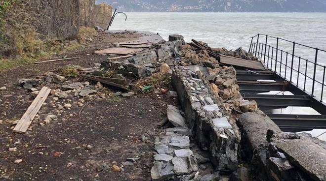 portofino, crollata la provinciale 227