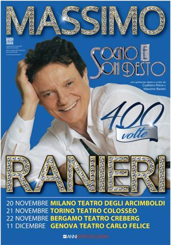 """""""Sogno e son desto 400 volte"""" Massimo Ranieri Teatro Carlo Felice"""