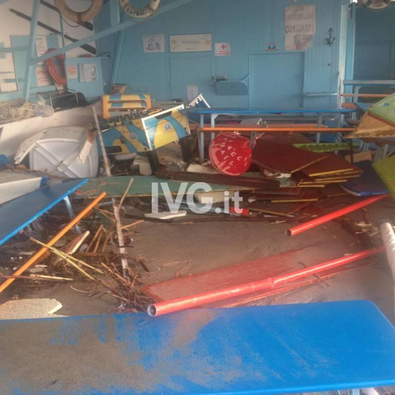 Spiagge e stabilimenti balneari devastati in tutto il Savonese