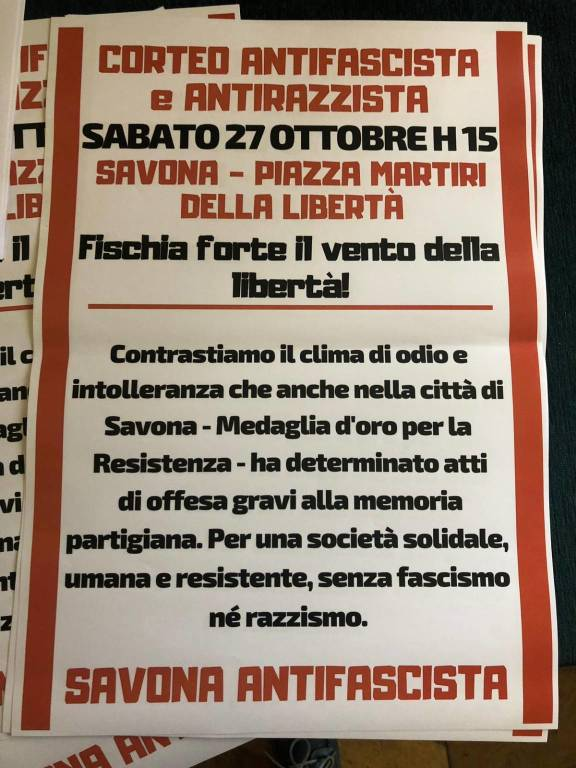 Manifestazione Antifascista Savona