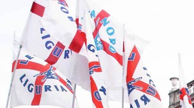 Bandiere lega Nord Liguria