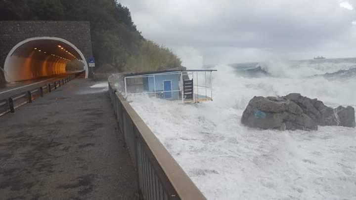 Vesima, danni per la mareggiata del 29 ottobre