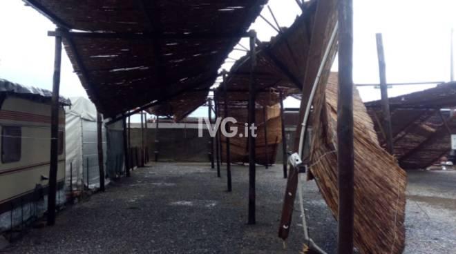 Albenga, campeggi distrutti dal maltempo