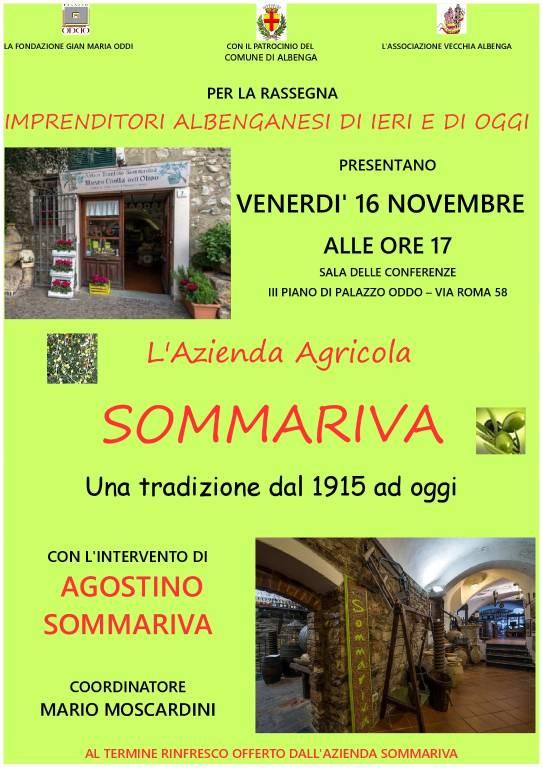 Conferenza Azienda Agricola Sommariva Albenga