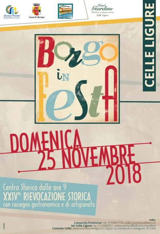 Borgo in Festa novembre 2018 Celle Ligure