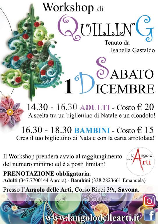 Workshop di Quilling a Savona