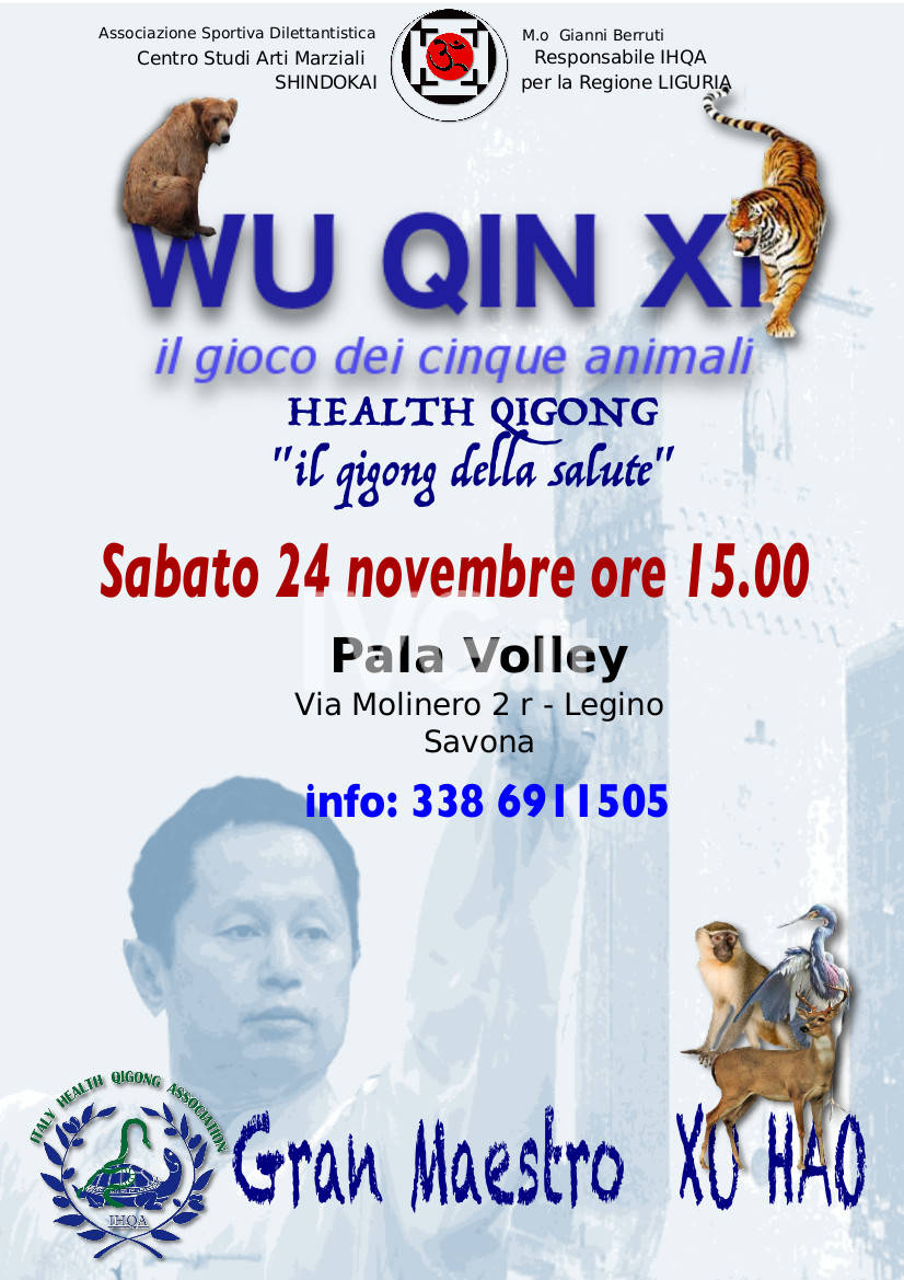 Wu Qin Xi - Seminario di Health Qigong  (Qigong della salute)