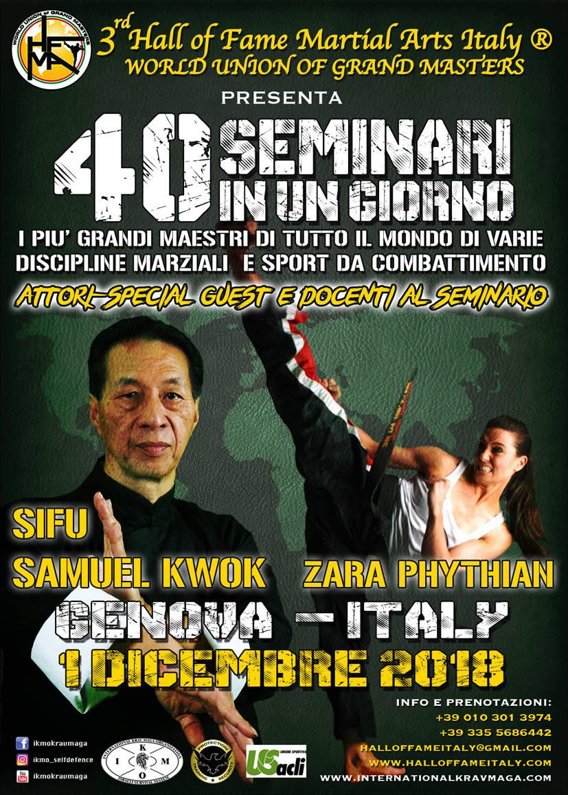 Hall of Fame Martial Arts Italy: i più grandi maestri di arti marziali a Genova