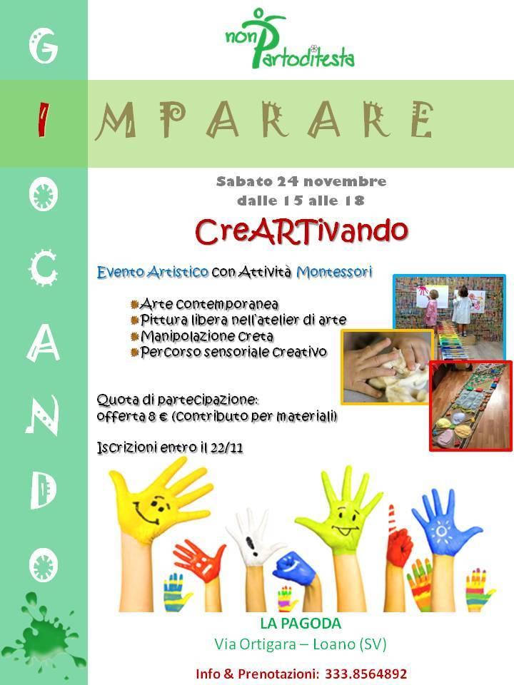 """""""CreArtivando"""" laboratori per bambini Pagoda Loano 2018"""