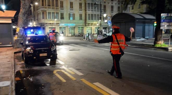 Controlli Carabinieri Albenga Notte