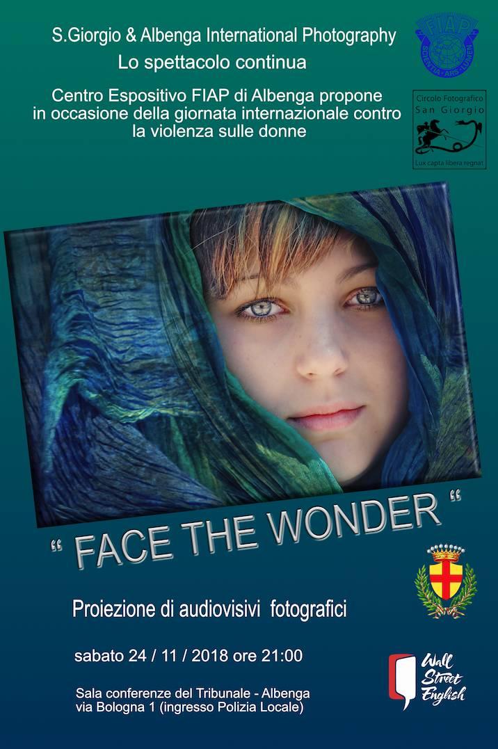 """Face the Wonder"" serata fotografia Albenga"